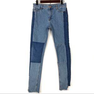 ASOS Jeans - ASOS Mixed Denim Skinny Jeans W/ Square Hem